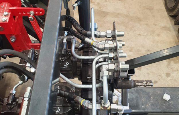 leidingwerk nieuwe machine